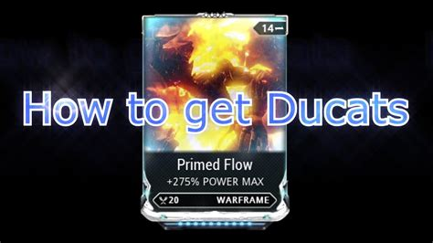 Warframe - How to get Ducats (Buying rare mods/item Ex