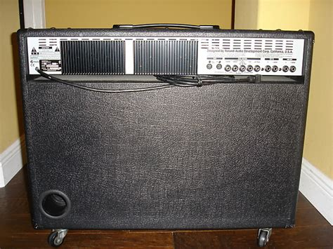 Roland VGA-7 stereo amp with FC-200 Midi footswitch   Reverb