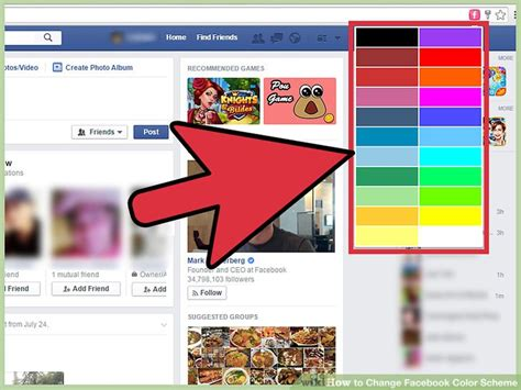 How to Change Facebook Color Scheme: 14 Steps (with Pictures)