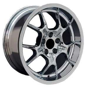 Fits Ford 18X10 Mustang GT4 GT40 Deep Dish Chrome OE