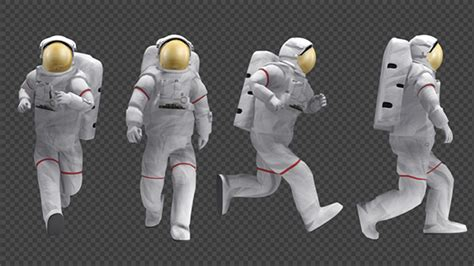 Astronaut - Walk And Run Animations (4-Pack) by se5d