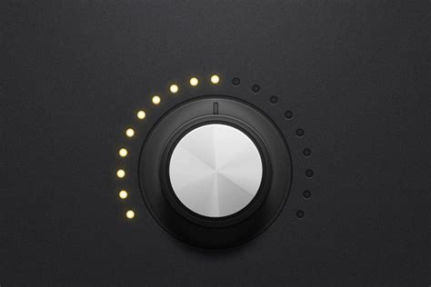 How to Create a Detailed Audio Rotary Knob Control in