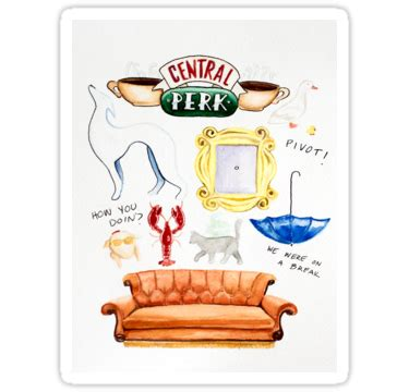 Central Perk, Monica's iconic yellow peephole frame